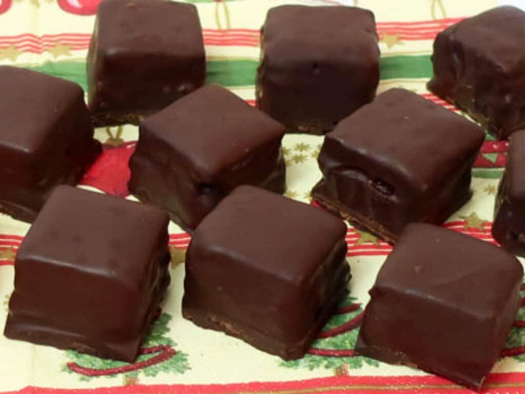 schokolade abschneiden